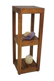 The ORIGINAL SULA Square Three Tier Teak Bath Stand