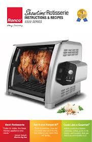 Ronco Rotisserie Cooking Time Chart Rotisserie Manualzz Com
