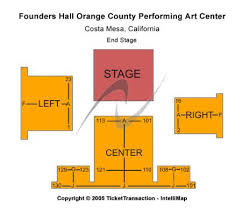 Segerstrom Center Seating Chart Segerstrom Center For The Arts Founders Hall Tickets And