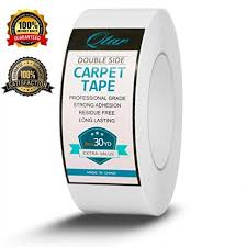carpet tape double sided non slip rug tape for hardwood floors rugats no residue heavy duty rug gripper 2 inch x 30 yards by qtar mengejutkan