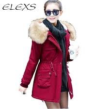 elexs winter military coat women parkas thicken long outwear women coats long winter jacket big fur hooded jacket coat tw1501 women winter coats coats for