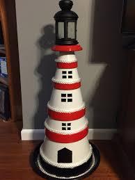 Clay Terra Cotta Pot Lighthouse Home Pinterest Leuchtturm