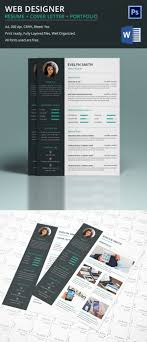 Resume Website Design Web Designer Resume Cover Letter Portfolio Template For Fresher 13