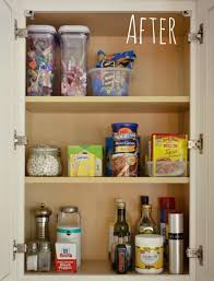 an organized cupboard is much easier to navigate you can actually find every ing when