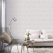 New York Geo Trellis Wallpaper - Grey ...