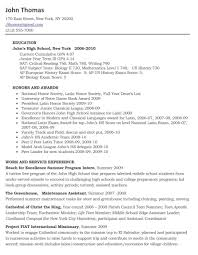 High School Resume For College Admission Resume Online Builder