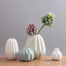 home decoration flower pots planters folding paper surface flower vases ceramic pots decorative vases wedding party pots garden decor