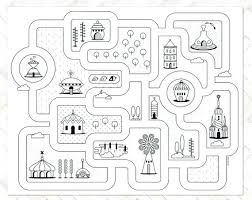 road map rugs city rug kids area big play childrens ikea driving time street car town
