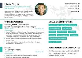 Elon Musk Resume New Elon Musk's Onepage Resume Get Inspired To Redesign Your Own CV To