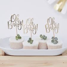 oh baby baby shower cupcake toppers