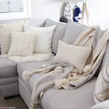 pillows for grey couch. Contemporary Couch Bridget Typically Goes The Neutral Route Creams Tans And Warm Grays And Pillows For Grey Couch H