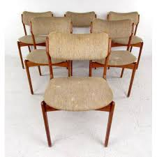 mid century modern ottoman simple lovely mid century skovby teak dining table and six od mobler chairs