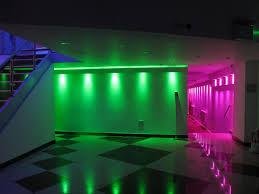 bathroom led lighting ideas. Atrracive Colorful Led Lights Decors Set On Ceiling As Well White Black Floor And Stairscase Bathroom Lighting Ideas