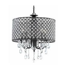 mesmerizing drum chandelier shades of the crystal ball and black steel