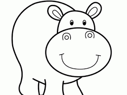 47 Coloring Pages Hippo Cute Hippo Coloring Pages To Kids