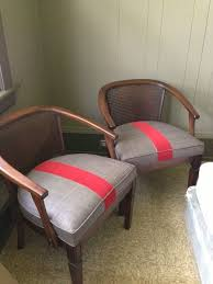 drd dayka robinson designs before after vintage barrel back cane chairs reupholstered