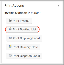 How To Print Packing Slips / Lists Using Print Invoice, Packing Slip ...