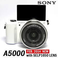 sony camera. sony alpha a5000 interchangeable lens camera with 16-50mm oss lens(white)(