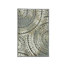 spiral medallion gray 3 ft x 5 ft area rug