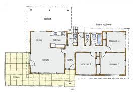 s typical building form   BRANZ RenovateFigure   Typical three bedroom one level floor plan