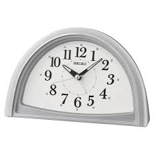seiko qhe166s ogue beep bedside travel alarm clock silver