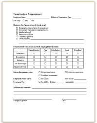 Employee Termination Letter New Termination Forms