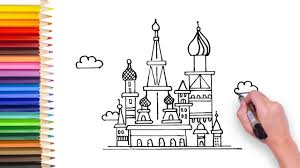 drawing instruction books for kids elegant learn how to draw russian building video for kids to