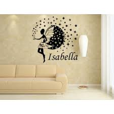Fairy And Stars Kids Bedroom Giant Wall Sticker UK, Fairy Personalised Wall  Art Decal,