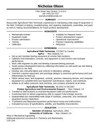 Resume Field Service Technician Resume Examples Sonicajuegos Com