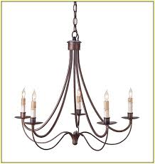 simple wrought iron chandeliers