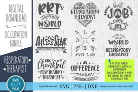 Choose from our library of lettering quotes, silhouettes, cute animals, garlands. Respiratory Therapist Svg Bundle Rt Svg Files For Crafters 451091 Cut Files Design Bundles