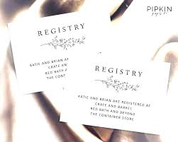Gift Registry Cards Templates Shower Inserts Template Target