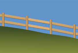 building fence hill contoured fencing