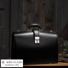 luggage aoki 1894 made in japan genuine leather men s lawyer briefcase no 2558