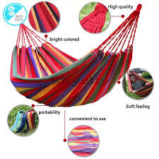 ds87 portable cotton rope outdoor hammock duyan