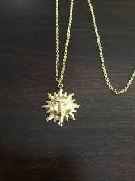 sun necklace sun gold sun necklace sun