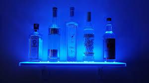 Floating Bar Shelves With Lights Led Floating Bar Shelf
