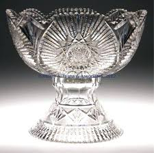 cut glass punch bowl with stand bowls star pattern march h c fry phoenix set value