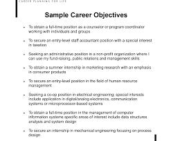 Sample Of Career Objectives For Resume Career Objective Resume Examples For Example Of Your 54