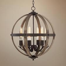 kimpton 6 light 21 wide dark bronze and wood orb chandelier inside fixture inspirations 9