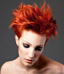 Charming short red hairstyles ideas Red Brown Pretty Short Hair Colored Spiky Hairstyle Haircuts Hairstyles 70 Colored Short Funky Hairstyle For Women