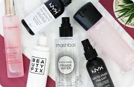 battle of the makeup setting sprays nyx beauty fix mac clarins smashbox