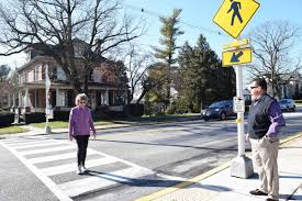 New Light Inc Greencastle Pa Motorists Pedestrians Alerted To New Safety Features In