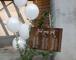 Editable Wood Wedding Table Seating Chart Sit Back And