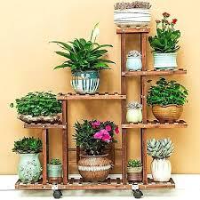 flower pot stand generic pine wooden plant indoor outdoor garden planter shelf diy stands ideas with