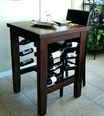 Wine rack dining table Design Dining Table With Wine Storage Pub Table With Wine Rack Exotic Pub Table With Wine Rack Valiasrco Dining Table With Wine Storage Wine Rack Dining Table Piece Bar