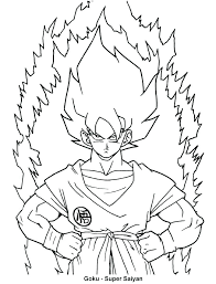 Goku Super Saiyan Coloring Pages Dragon Ball Z And Super Coloring