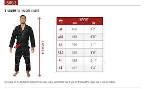 Venum Women S Gi Size Chart Venum Contender 2 0 Bjj Gi Black