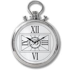 large nickel pocket watch wall clock