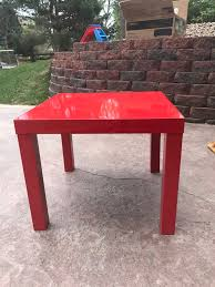 description ikea lack side table high gloss red x2 s